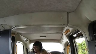 Lusty amateur Ebony with big boobs fucked in the cab Preview Image