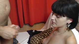 Czech amateur chick plays with two cocks and gets facial Preview Image