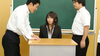 Hot teacher Maho Sawai gets rammed at school Preview Image