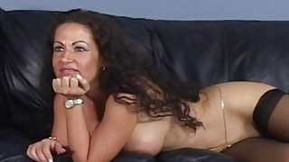 Cougar gives titjob and gets banged by black cock Preview Image