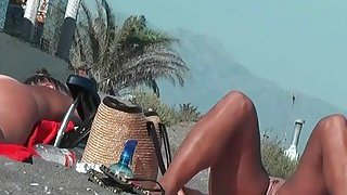 Real amateur nudist hotties with naked pussy at the beach Preview Image