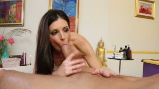 Horny slut India Summer gives a sensual massage and sucks the cock deepthroat Preview Image