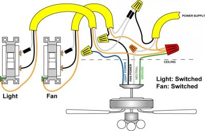 ceiling fan wiring diagram two switches neff cooker hood a and light pro tool reviews switch