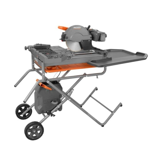 ridgid 10 inch wet tile saw review