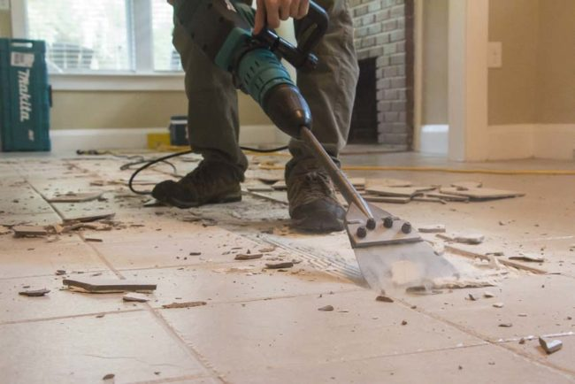 how to remove tile the easy way like