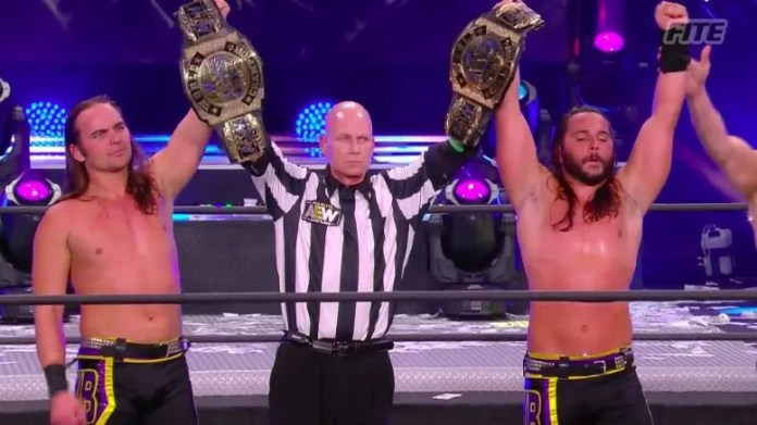 Young Bucks Win AEW World Tag Team Titles at Full Gear