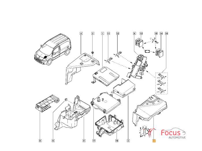 Used Renault Kangoo/Grand Kangoo (KW) 1.5 dCi 90 FAP Fuse
