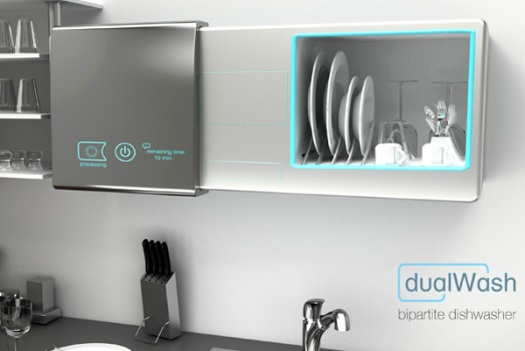 Waterless Dishwasher Doubles As Storage Cabinet