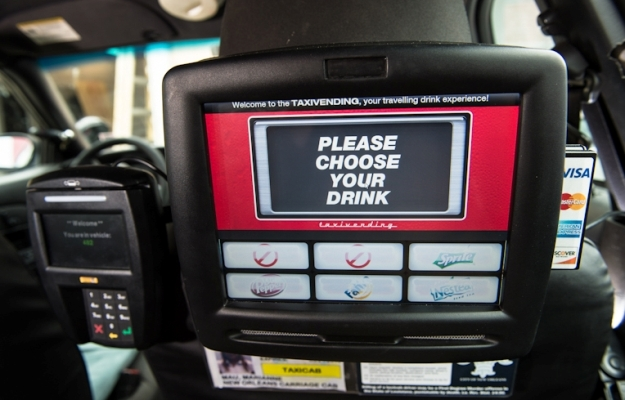 Grab A Drink On The Go With In-Cab Vending Machines
