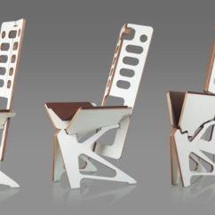 Folding Chair Hinges Modern Papasan Australia Folditure Furniture Designed To Fold Into Hangable Flat Silhouettes - Psfk
