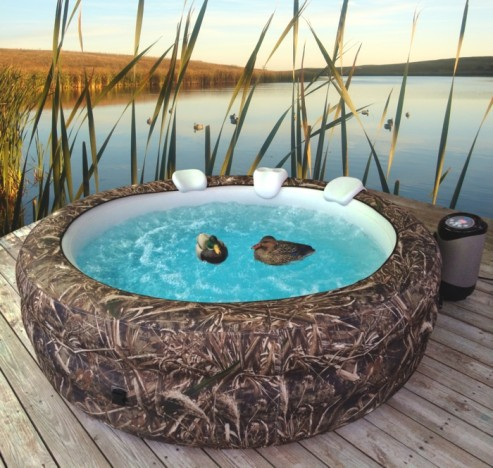 Inflatable Hot Tub Lets You Relax Anywhere PSFK