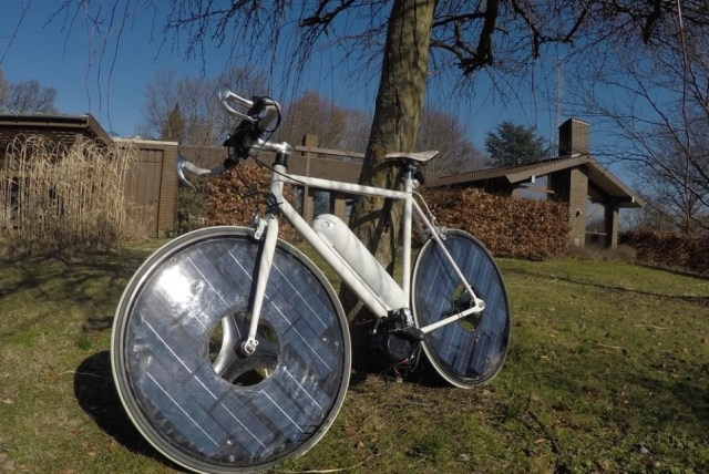Solar powered bike