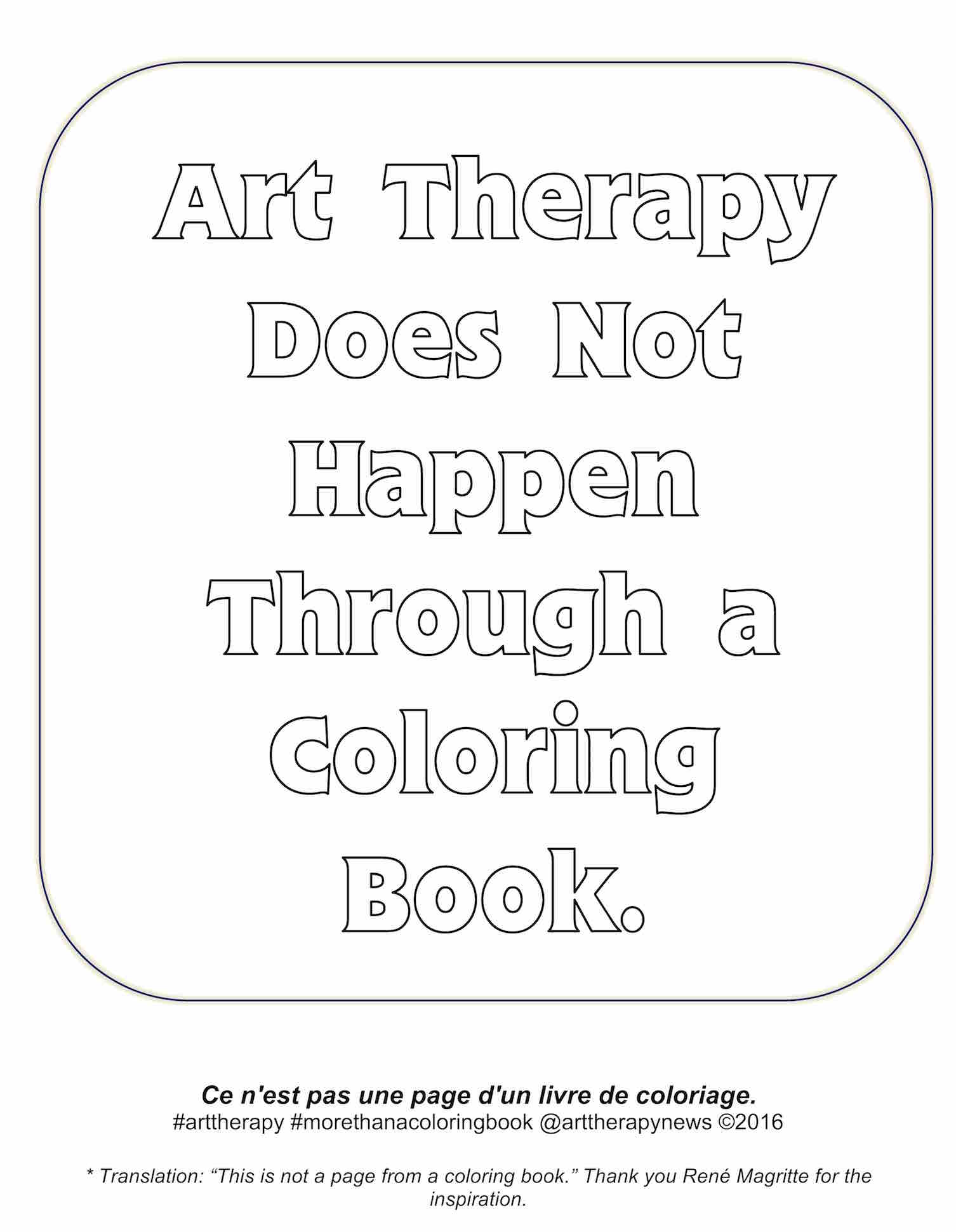 Art Therapy Does Not Happen Through An Adult Coloring Book