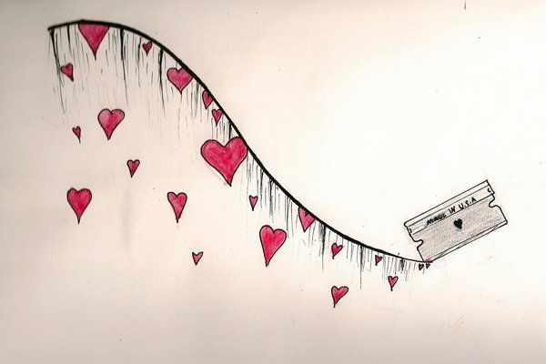 Easy Emo Love Drawings