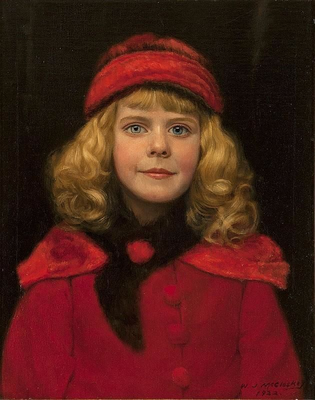 "William J. McCloskey ""Girl in Red Hat"" (1922)/wikimedia commons"
