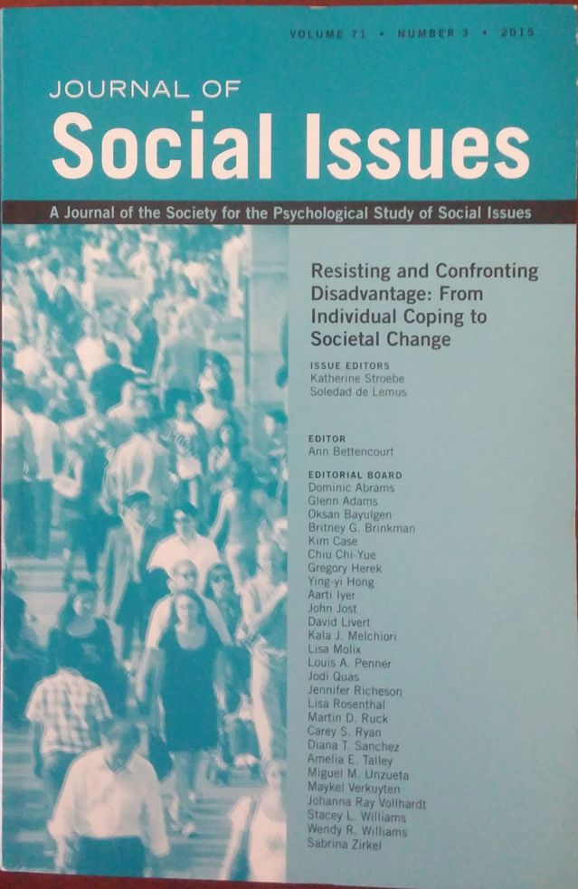 Journal of Social Issues Explores Collective Social Change