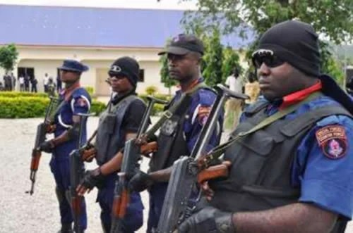 Image result for NSCDC arrests man for demolishing late governor's statue