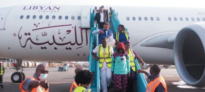 Image result for Another 180 stranded Nigerians return from Libya