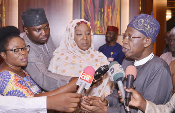 Image result for God, guide us through these interesting times'' Lai Mohammed prays at FEC