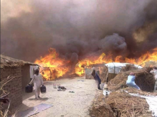 Fresh Borno Idp Camp Fire Injures 14  Punch Newspapers