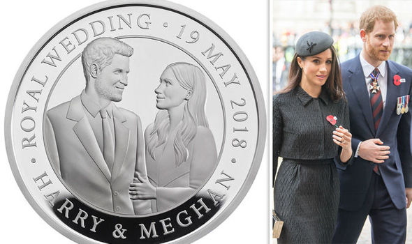 Image result for fiancee get royal coin to commemorate wedding