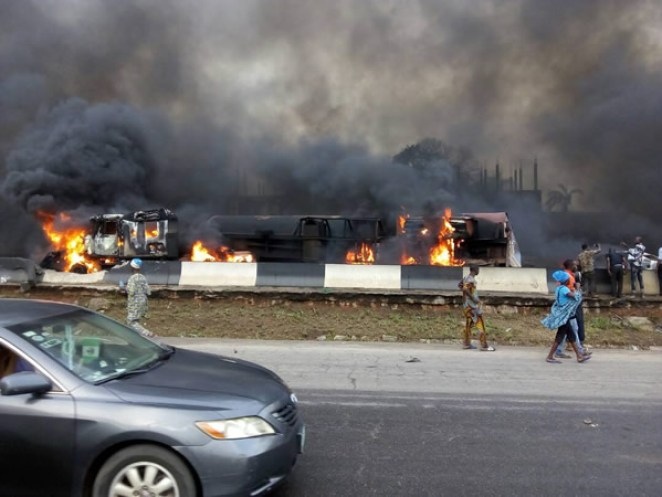 Image result for otedola bridge fire