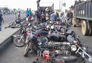 Lagos working group seizes 81 motorcycles on restricted routes