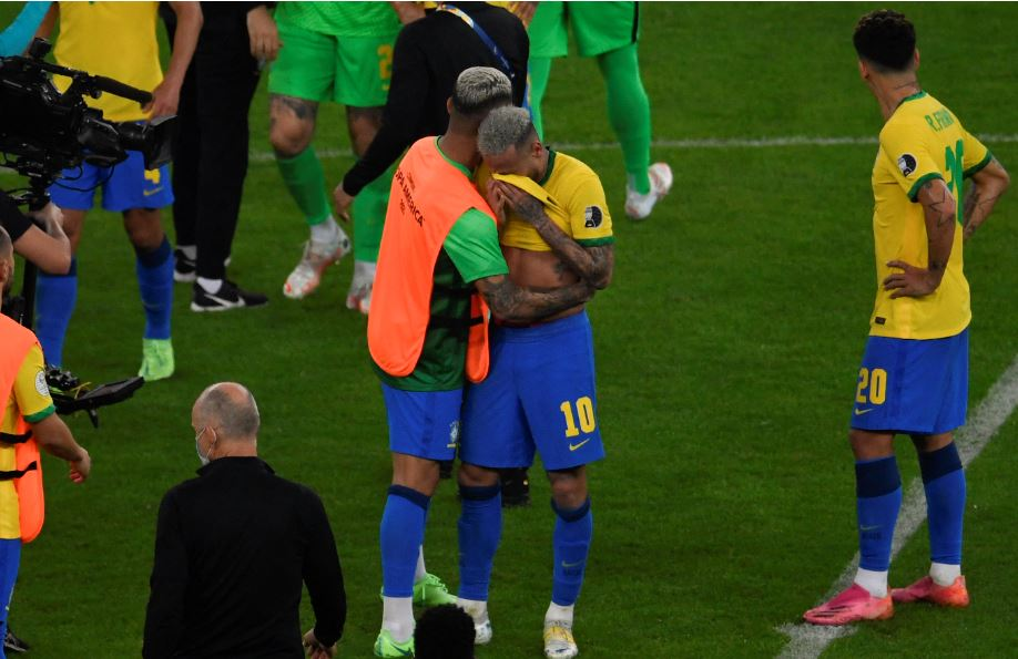 Neymar weeps copa America