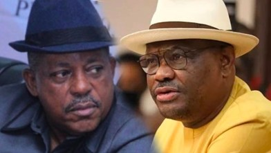 National Chairman of the Peoples Democratic Party, Prince Uche Secondus, and the Governor of Rivers State, Chief Nyesom Wike