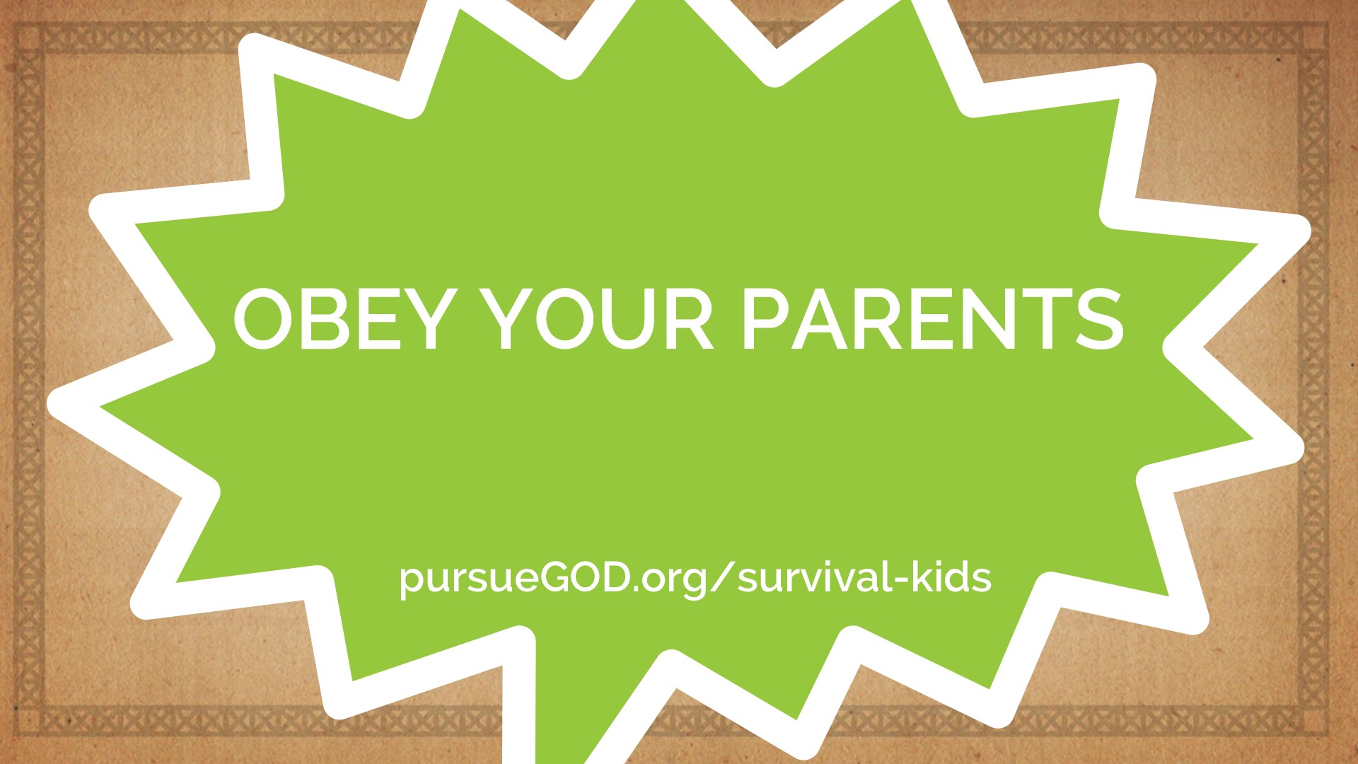 Obey Your Parents Kids