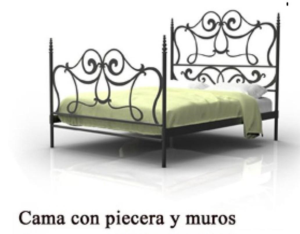 cama sofa forja michael nicholas warrior dormitorio 1215 agata con piecera y muros