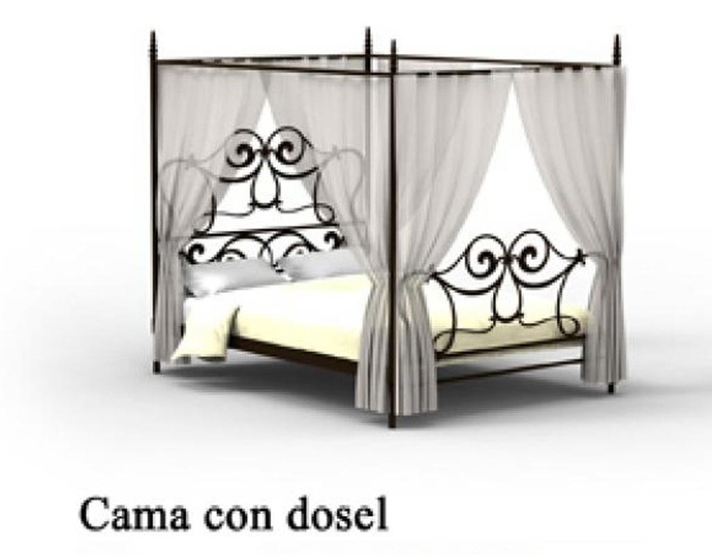 cama sofa forja bed desk combo dormitorio con dosel 1215 agata