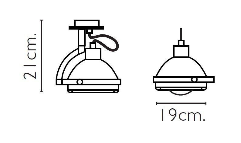 DRESSLIGHT BARCELONA GLOP 1L Lámpara aplique cristal pyrex