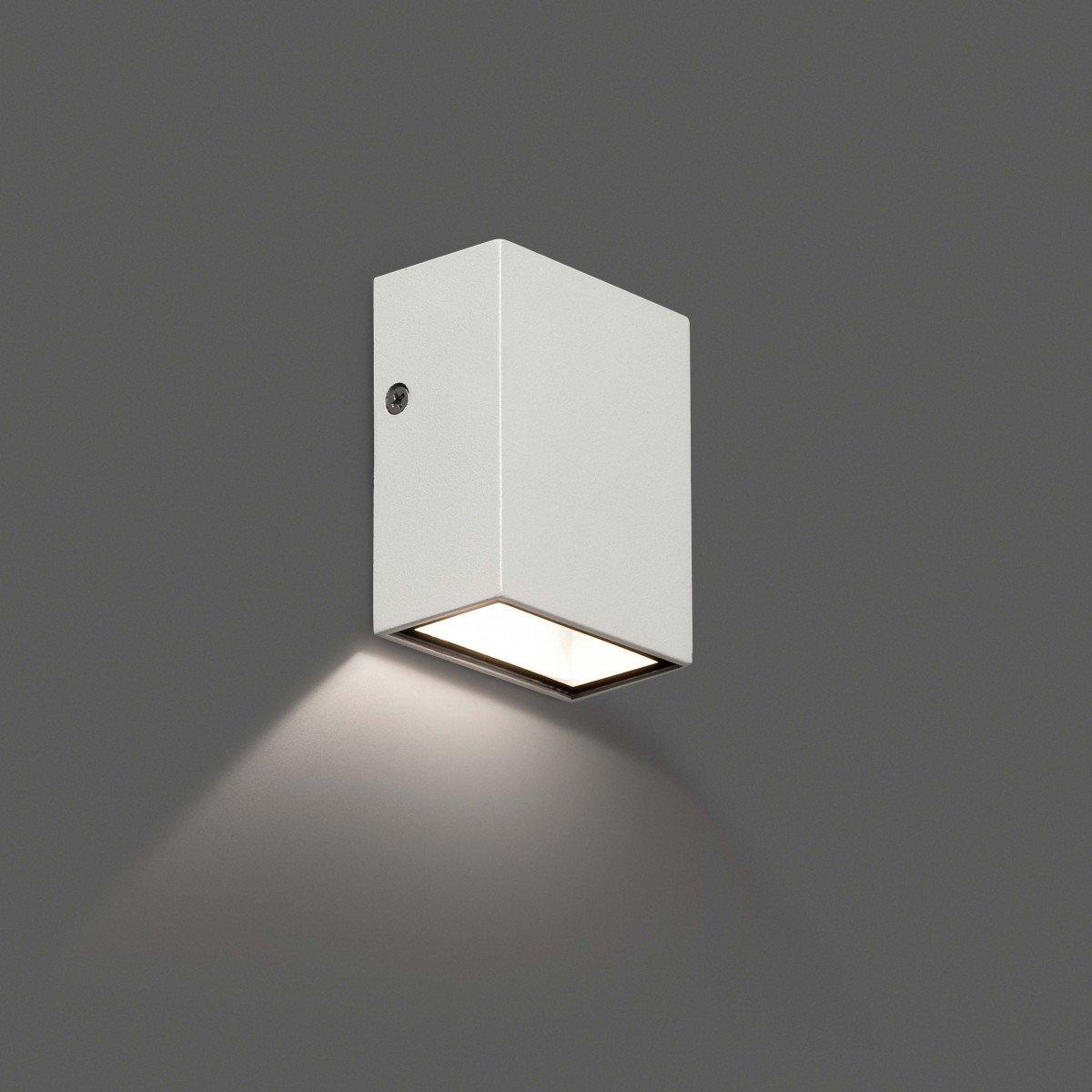FARO CANON2 LED Lmpara aplique blanco 70567N ILUMINACIN EXTERIOR Apliques de pared Faro