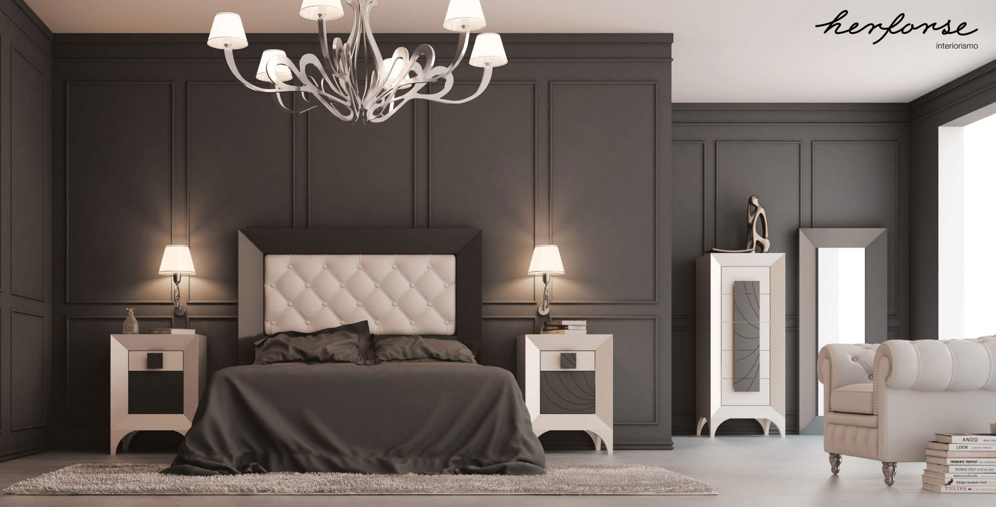 alta decoracionclasico  Dormitorios  HERFORSEinteriorismo