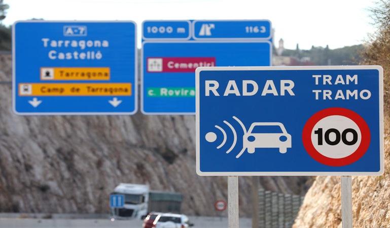 Radares de tramo en Cataluña