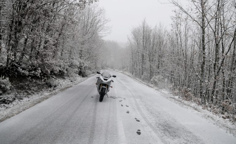 Conducir en moto en invierno