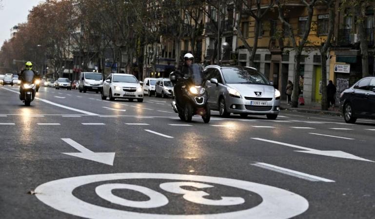 Reducción de la velocidad en ciudad en el 2020