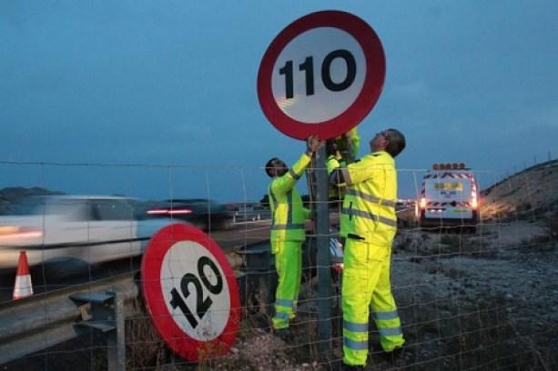 La DGT establecerá los 130 km/h en determinados tramos de autopistas