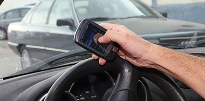 La pistola radar para detectar el uso de móviles al volante