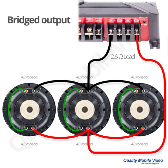 subwoofer impedance and amplifier output  quality mobile