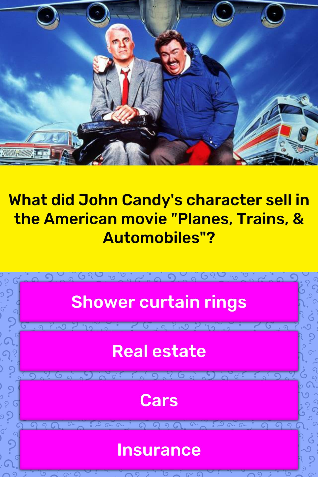 What Did John Candy S Character Sell Trivia Answers