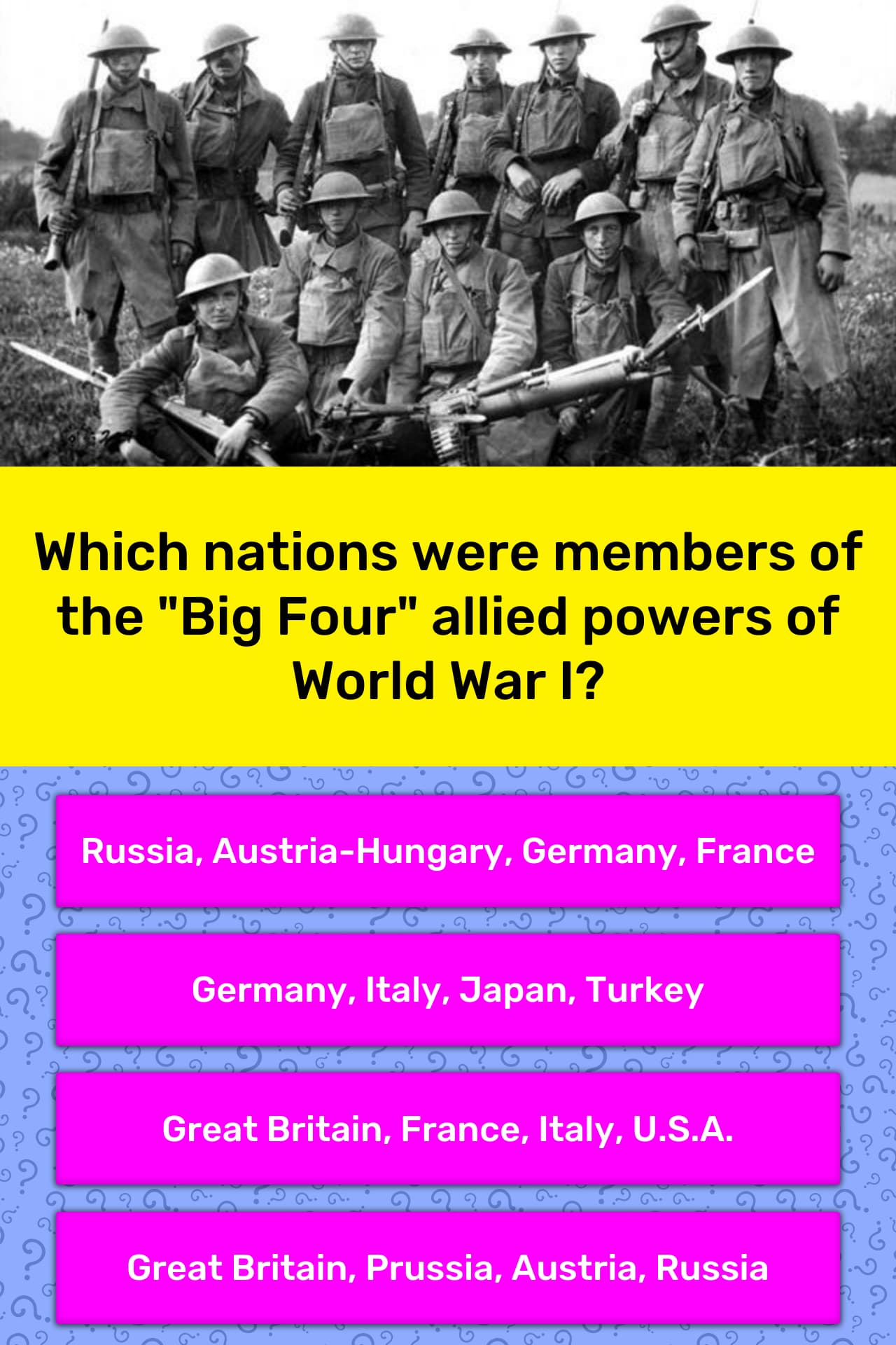 Which Nations Were Members Of The