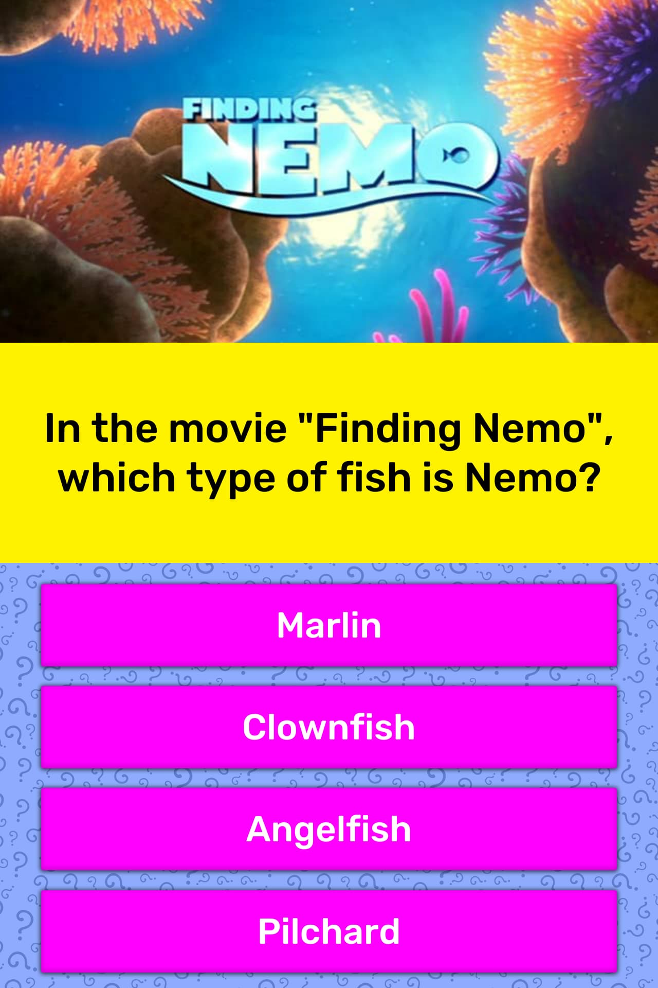 In The Movie Finding Nemo Which