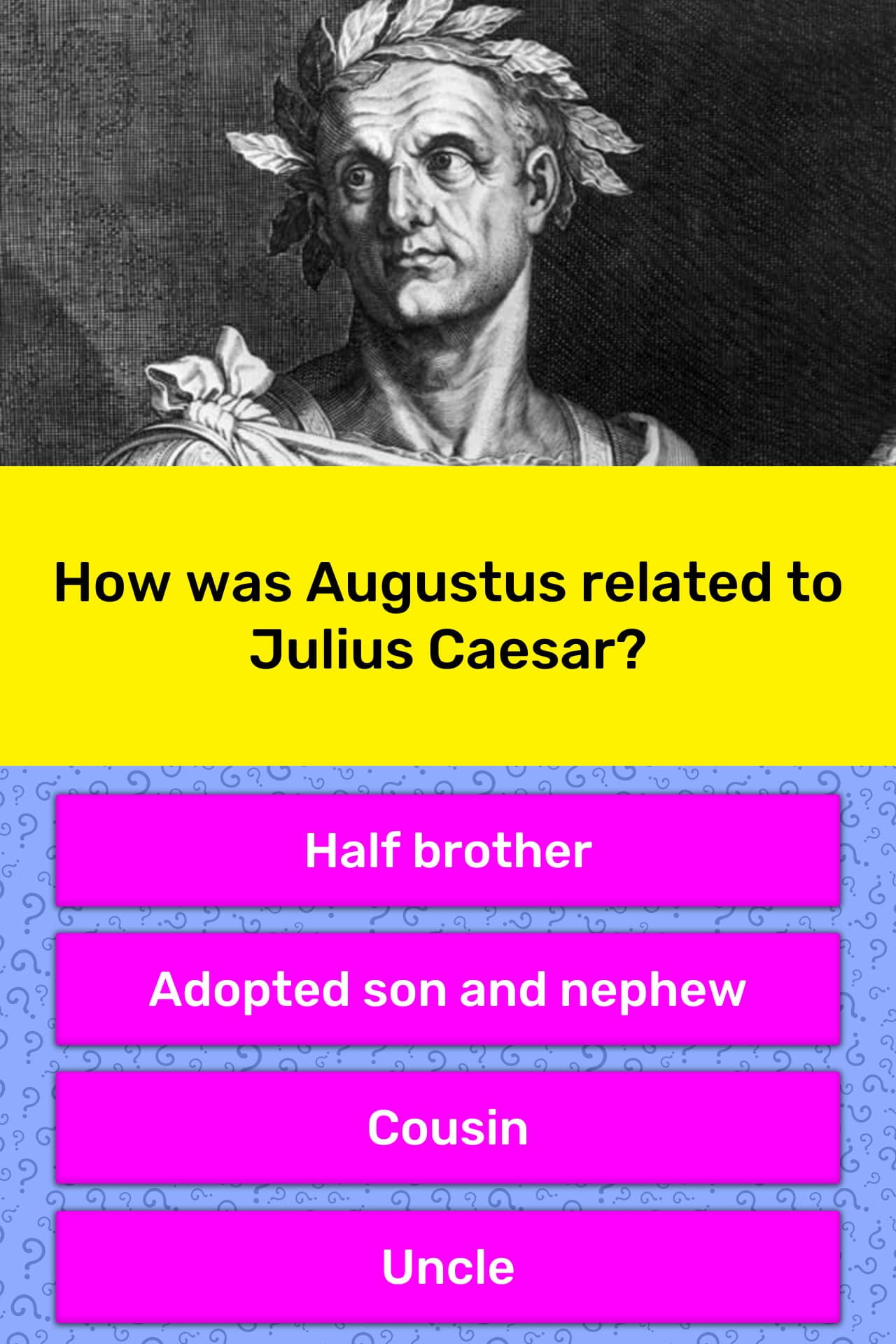 How Was Augustus Related To Julius