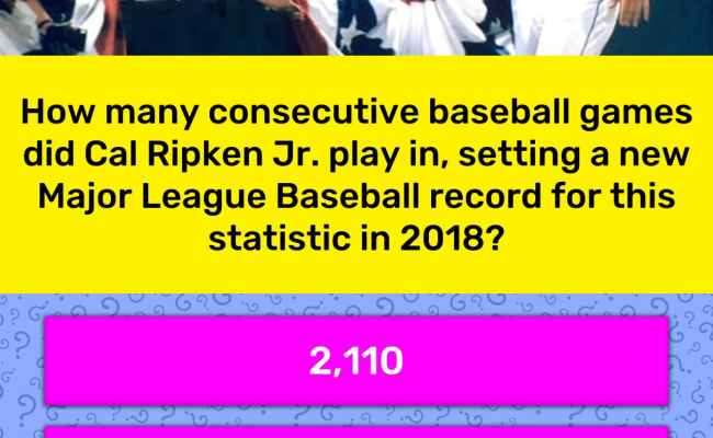 How Many Consecutive Baseball Games Trivia Answers