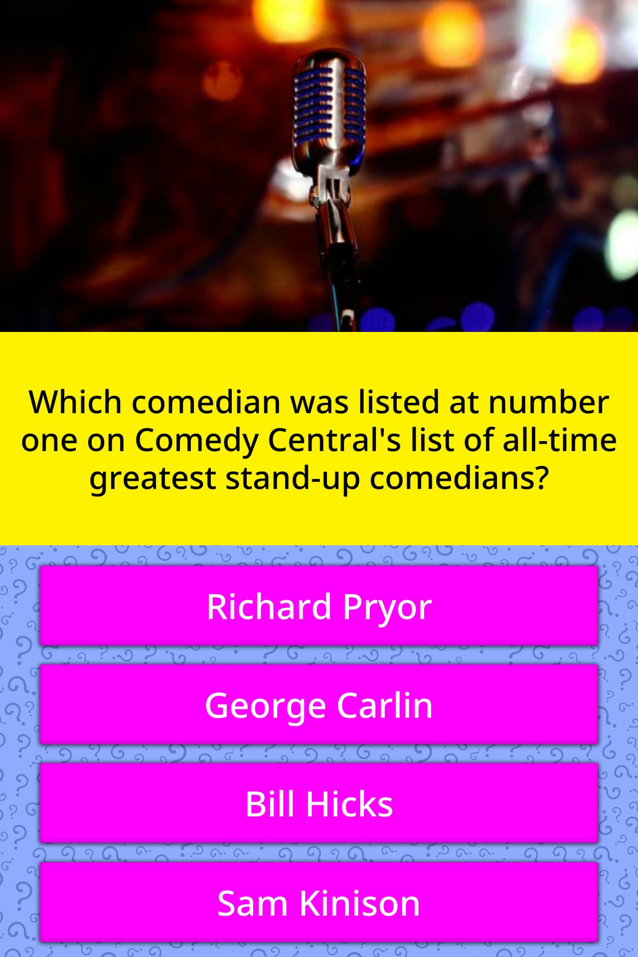 Comedy Central List Of Comedians : comedy, central, comedians, Which, Comedian, Listed, Number..., Trivia, Questions, QuizzClub