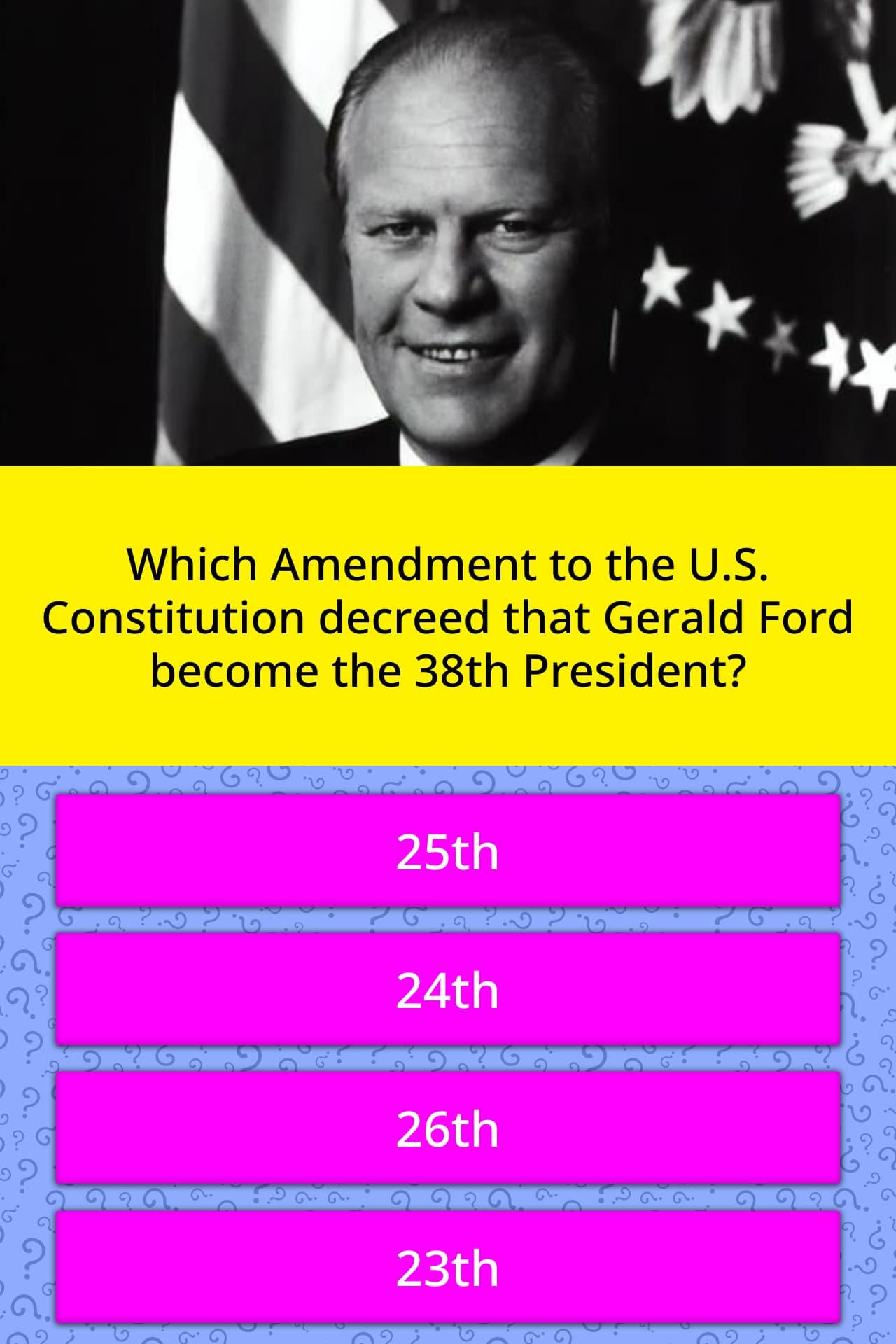 Which Amendment To The U S