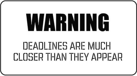 Deadline quote #1