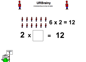 Understanding an Array (Two Times Table) Multiplication